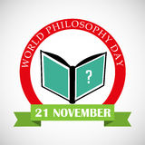 World Philosophy Day. Illustration of a Banner For World Philosophy Day Stock Photography