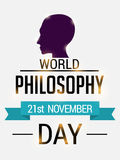 World Philosophy Day. Stock Photography