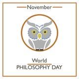 World Philosophy Day. November Royalty Free Stock Images