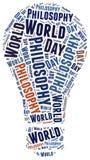 World philosophy day. Word cloud illustration Stock Image
