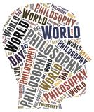 World philosophy day. Word cloud illustration Royalty Free Stock Photography
