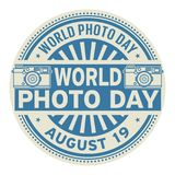 World Photo Day, August 19. Rubber stamp, vector Illustration royalty free illustration