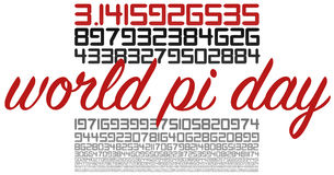 World PI day celebration sign on white Stock Photo