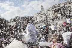 World Pillow Fight Day London Stock Image