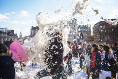 World Pillow Fight Day London. 2013 Royalty Free Stock Photos