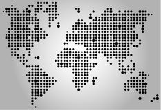 World pixel map Royalty Free Stock Photos
