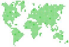 World pixel map Stock Photos