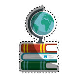 World planet with books school supply Stock Photography