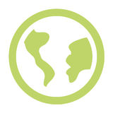 World planet earth icon Royalty Free Stock Image
