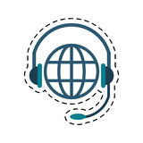 World planet head service communication cut line Royalty Free Stock Photography