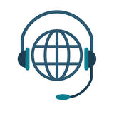 World planet head service communication Stock Photography