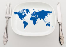 World on plate Royalty Free Stock Photography