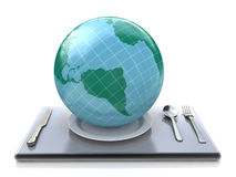 The world on plate Royalty Free Stock Photo
