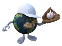 The world that plays baseball stock illustration