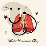 World Pneumonia Day. Illustration of a Banner for World Pneumonia Day Stock Image