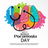 World Pneumonia Day. Illustration of a Banner for World Pneumonia Day Royalty Free Stock Image