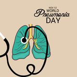 World Pneumonia Day. Illustration of a Banner for World Pneumonia Day Stock Photo