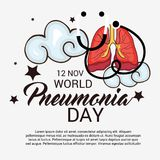 World Pneumonia Day. Royalty Free Stock Images