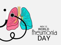 World Pneumonia Day. Illustration of a Banner for World Pneumonia Day Royalty Free Stock Photo