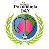 World Pneumonia Day. Stock Photo