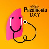 World Pneumonia Day. Royalty Free Stock Photo