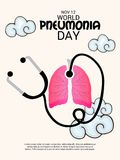 World Pneumonia Day. Stock Images