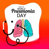 World Pneumonia Day. Stock Photography
