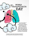 World Pneumonia Day. Stock Image