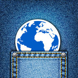 World in pocket Royalty Free Stock Images