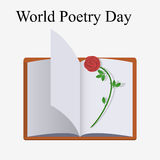 World poetry day Stock Image