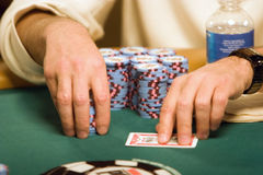 World Poker Tournament. Poker player at the World Poker Tournament Stock Image