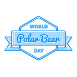 World Polar Bear day greeting emblem Royalty Free Stock Images