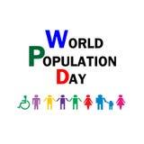 World population day - Illustration Stock Images