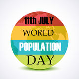 World population Day Royalty Free Stock Image