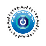 World population day vector- Illustration Royalty Free Stock Images