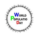 World population day vector- Illustration Royalty Free Stock Image