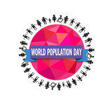 World population day vector- Illustration Stock Photo