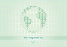 World Population Day vector Royalty Free Stock Photo