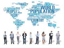 World Population Global People Community International Concept Royalty Free Stock Image