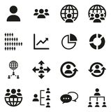 World Population Icons Stock Photos