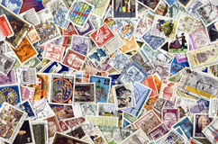 World Post Stamps Royalty Free Stock Photos