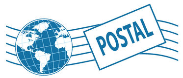 World postage stamp Stock Photo