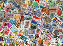 World postage stamp background Royalty Free Stock Images