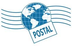 World postage stamp center Royalty Free Stock Photo