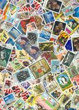 World Postage Stamps Royalty Free Stock Photo