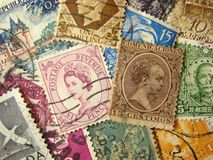 World Postage Stamps Royalty Free Stock Image