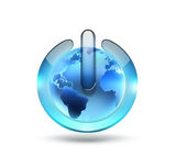 World power button Royalty Free Stock Photography