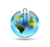 World power button Royalty Free Stock Photos