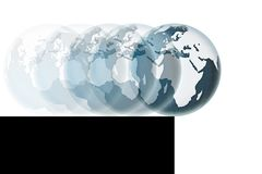 World on the precipice - concept image Royalty Free Stock Photo