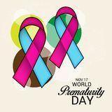 World Prematurity Day. Illustration of a Banner for World Prematurity Day Royalty Free Stock Images